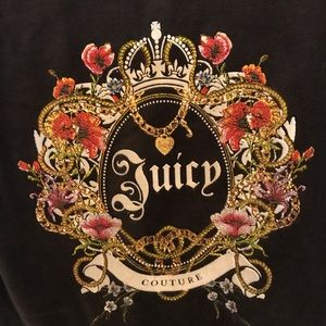 Juicy couture velour zippered sweater